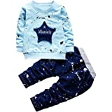 squarex Sunny Infant Baby Boys Star Print Tops+Pants Outfits Clothes Set Tracksuits