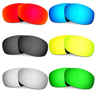 HKUCO Mens Replacement Lenses For Costa Brine Red/Blue/Black/24K Gold/Emerald Green Sunglasses HFAIK1c