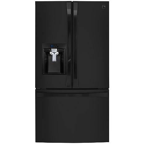 Kenmore Elite 74099 31 7 cu  ft  French Door Bottom Freezer Refrigerator in  Black, includes delivery and hookup