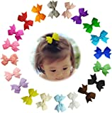 "Sunflower-qd 2"" Hair Bows Mini Hair Clips for Baby Girls Toddlers Infan 20pcs"