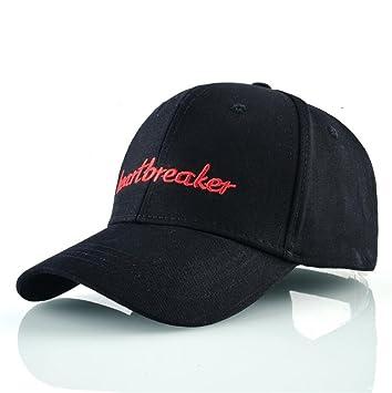 Gorra de béisbol de algodón de primavera Mujer Heartbreaker Carta bordado  hueso Hip Hop Snapback para hombres Casual Papá Negro Hat Casquette 9ea720be346