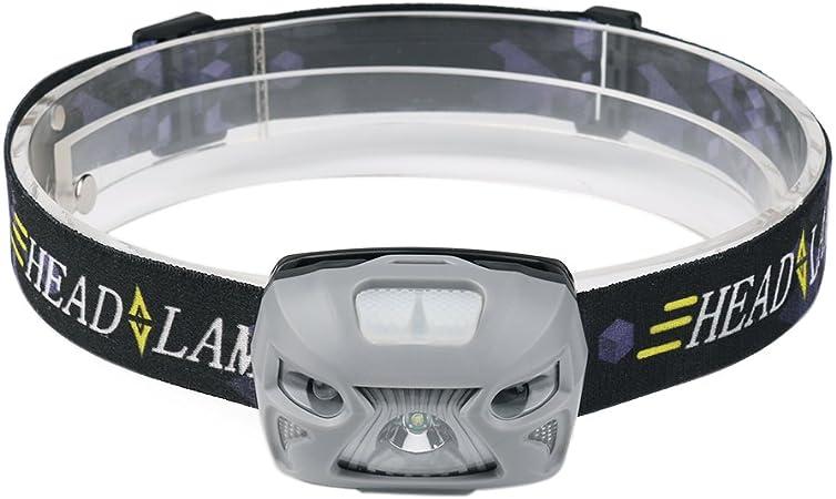 Linterna frontal LED, linterna frontal, ligera, resistente al agua ...