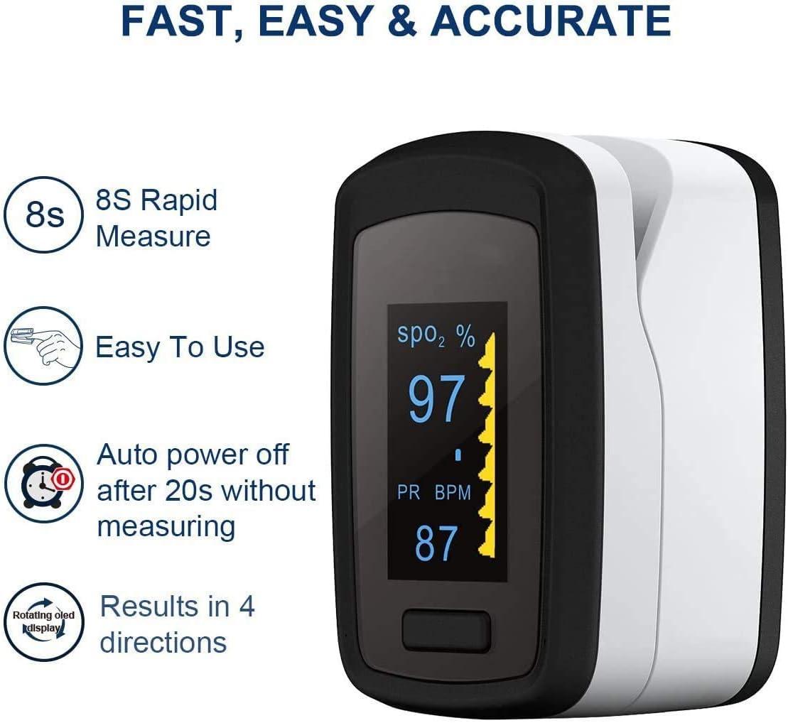 Y 8 Horas de Vigilancia del Sue/ño con Certificaci/ón CE Unionon Oximetro Dedo Profesional Ox/ímetro de Pulso Bluetooth Multifuncional -Monitoreable Spo2,PR Pulso Valor de /índice de perfusi/ón PI