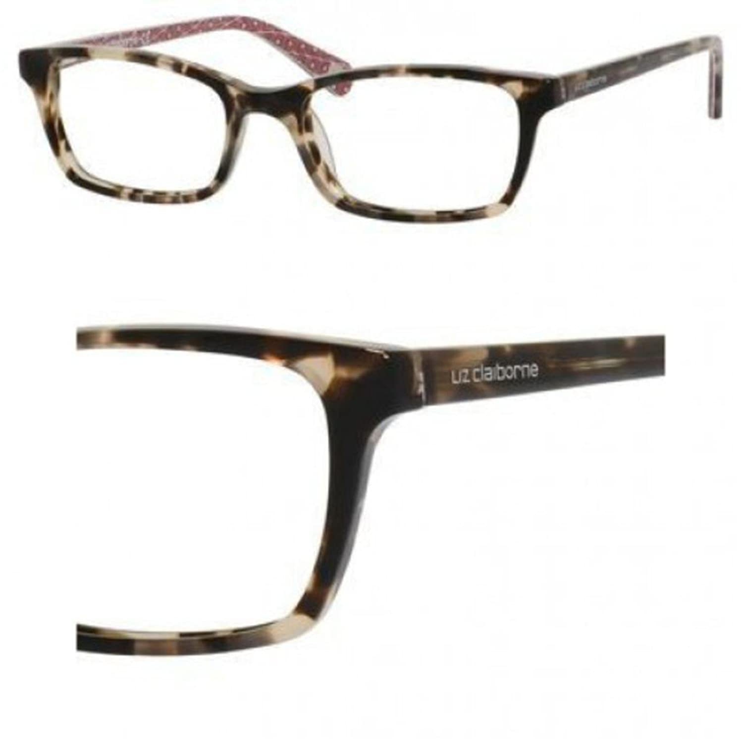 Amazon.com: LIZ CLAIBORNE 0FY2 Rose Tortoise Eyeglasses: Clothing