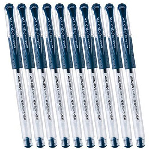 - Uni-ball Signo DX UM-151 Gel Ink Pen 10 Set(Blue-Black)