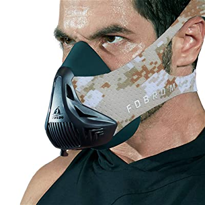 FDBRO Workout Mask-Sports Mask Fitness High Altitude Mask Training,Running