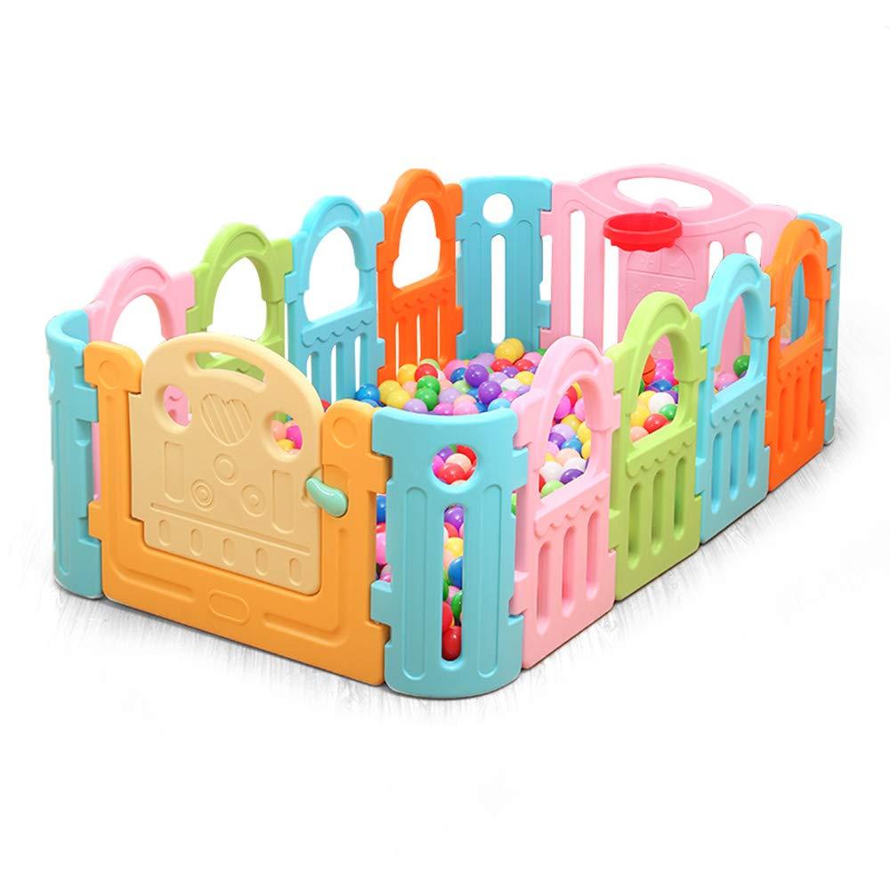 LHA ベッドガードフェンス 子供の赤ちゃん遊びフェンスベビークロール幼児ガードレールの安全フェンス玩具の年齢ギフト-185 * 110 * 68センチメートル   B07M5BQ85T