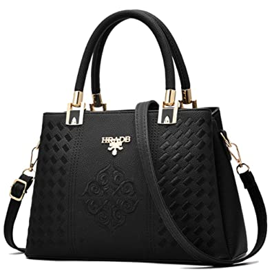 16581691786e Black Leather Designer Handbag For Women - Shoulder Bag - Crossbody Bag - Tote  Bag -