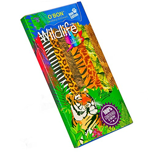 - O'BON Wildlife Series Colored Pencils, Soft Core Colored Pencils Made from Newspaper for Kids Coloring and Drawing, Environmentally Friendly (Pack of 12 Colors)