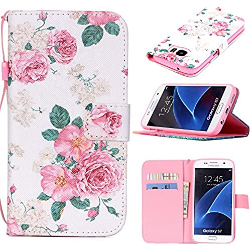 S7 Case, Galaxy S7 Case, Harryshell(TM) Rose Flower Wallet Folio Leather Flip Case Cover with Card Holder for Samsung Galaxy S7 Sales