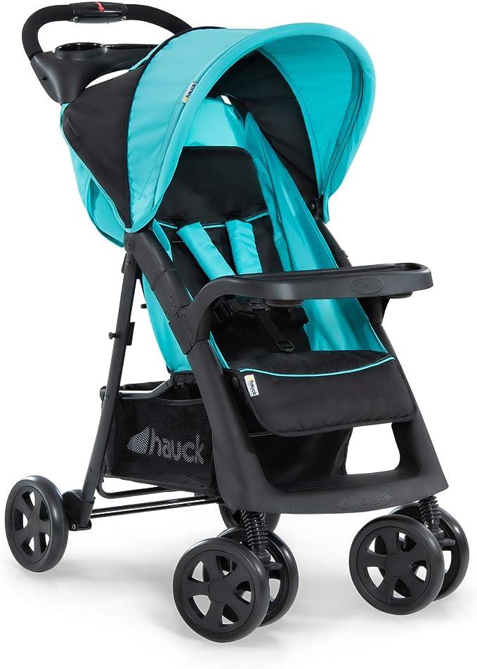 Hauck Shopper Neo II Poussette Ultra Légère - 7,9 kg jusqu'à 25 kg avec Position Couchée de 0 Mois, Deux Porte-Gobelet, Pliable d'une Main, Grand Panier - Noir Bleu