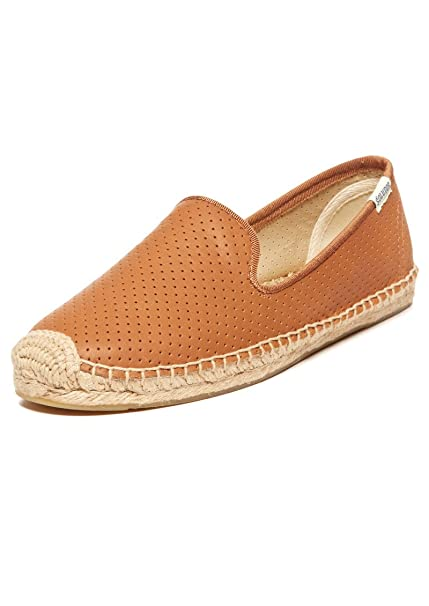 Soludos Tan Perforated Leather Smoking Slipper Espadrilles UK 7:  Amazon.co.uk: Shoes & Bags