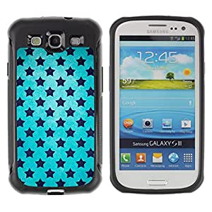 All-Round híbrido Heavy Duty de goma duro caso cubierta protectora Accesorio Generación-II BY RAYDREAMMM - Samsung Galaxy S3 I9300 - Stars Universe Wallpaper Blue Sky Black