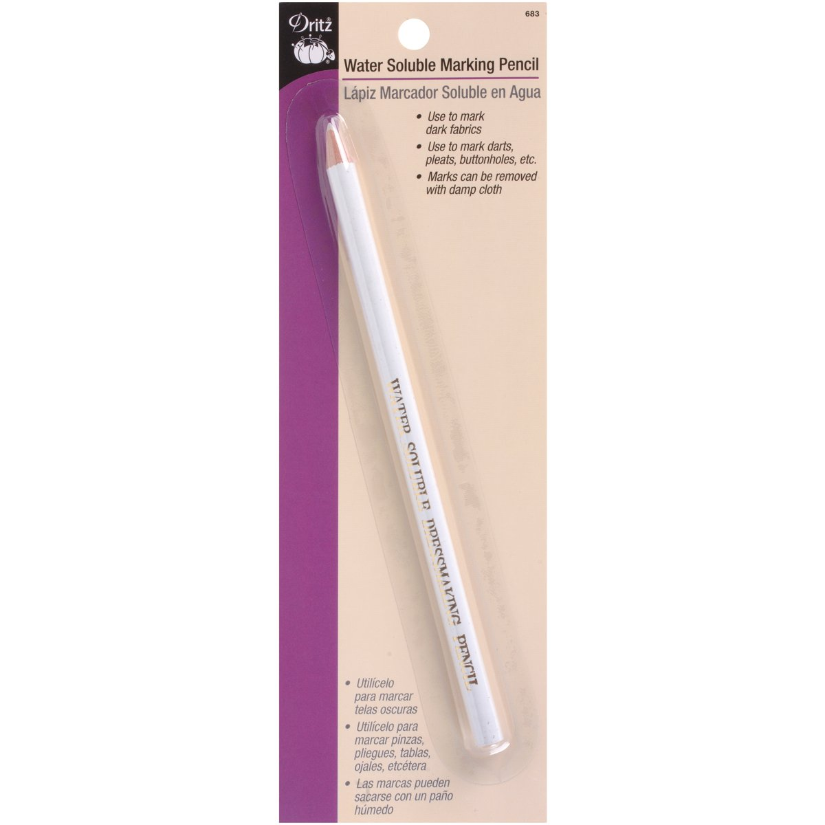 Dritz Marking Pencil White Water Soluble Prym Consumer USA 683