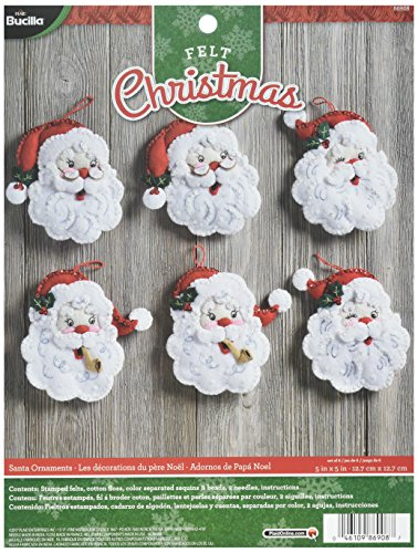 - Bucilla 86908 Santa Felt Ornament Kit, Multicolor