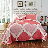 KD Spain Kaleo Quilt Sham Set, Pink Coral, Twin