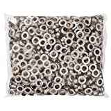 Yescom 1000pcs #4 15/32'' Grommet Machine Grommets & Washers Nickel Eyelets Banner Tool for Posters Tags Signs Bags