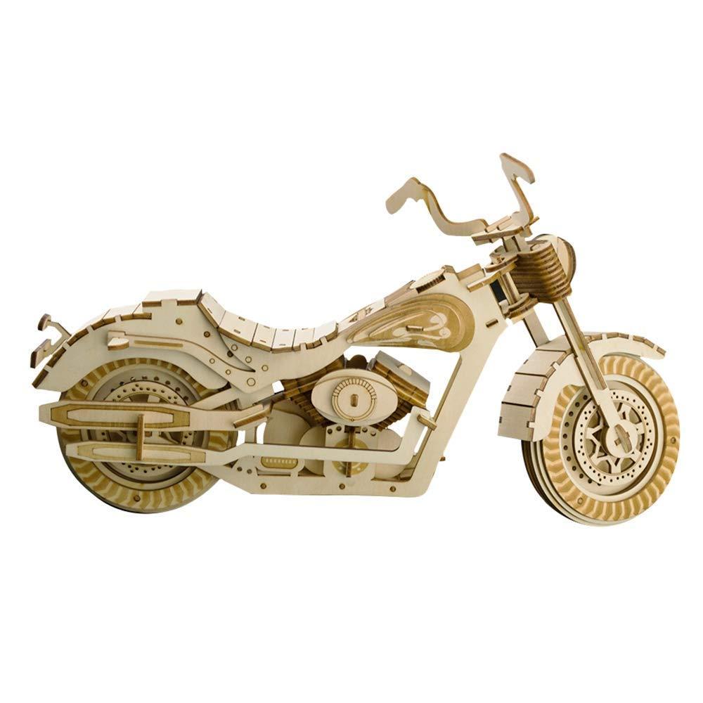 木製3Dパズル モーターサイクルモデルおもちゃキット 子供または大人用 組み立ておもちゃ 脳の体操 (モーターサイクル HDI) 3723.42.4cm   B07SG4Q5MH