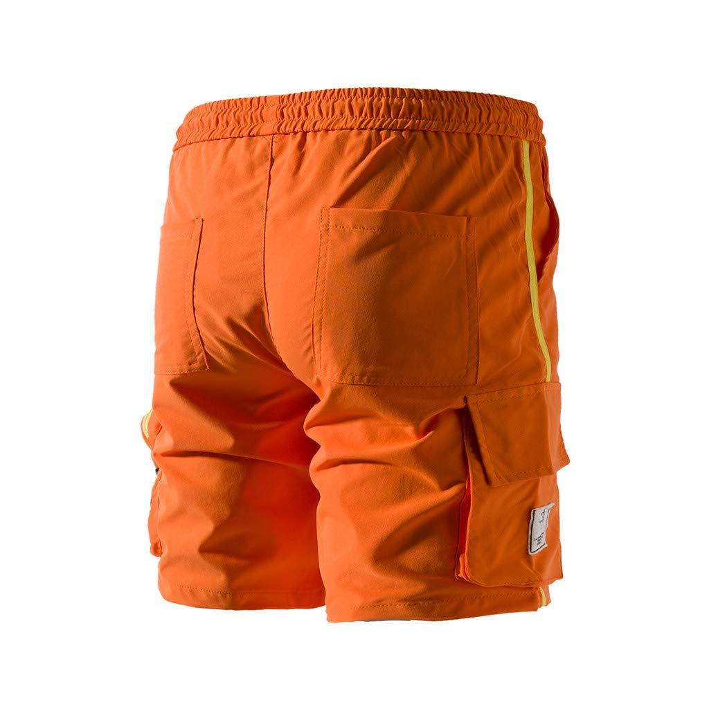 Short Homme Sport /Ét/é Mince Respirant Pantalons Court Jogging Workout Fitness Gym Tennis Pantalon Poches Casual Entra/înement La Musculation Short Loose Exercices Court Un Pantalon