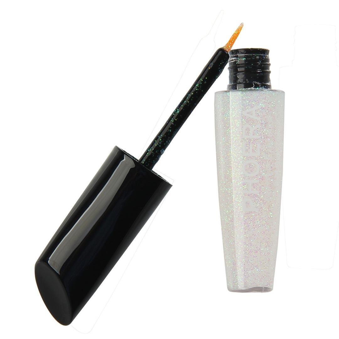 10 Color Makeup Metallic Shiny Eyes Eyeshadow Waterproof Glitter Liquid Eyeliner (J)
