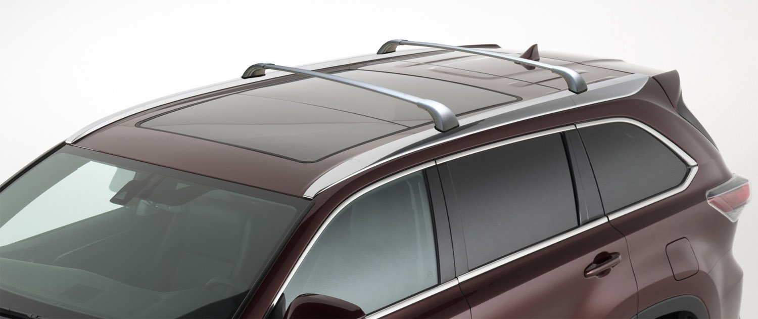 Brightlines 2014 2018 Toyota Highlander Xle Limited Silver Cross Bars Roof Racks
