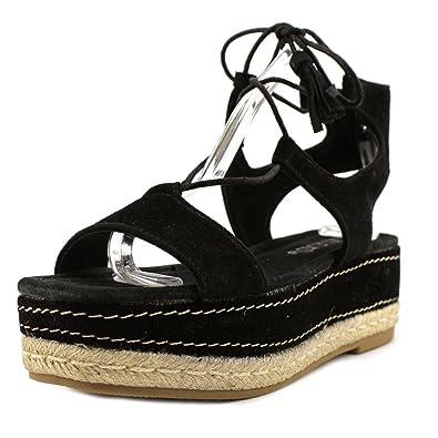 2d62596a72 Platform Sandals Black Suede by Sixty Seven (Black - 36): Amazon.co ...