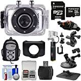 Vivitar DVR783HD HD Waterproof Action Video Camera Camcorder (Silver) with Helmet, Bike & Suction Cup Mounts + 32GB Card + Case + Power Bank Grip Kit Action Cameras