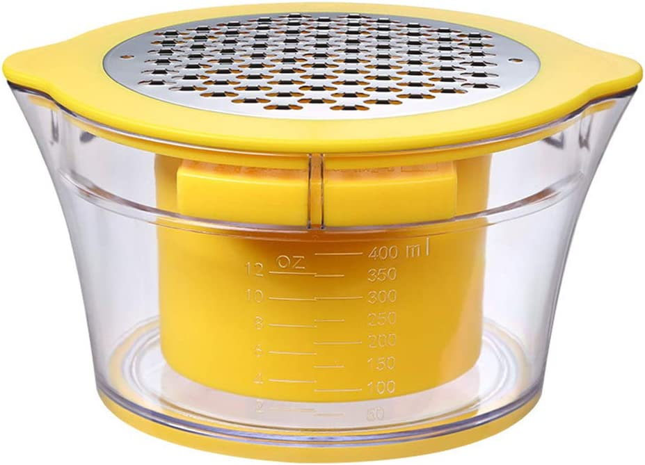 ZXX Trilladora de maíz, con empujador Seguro + Taza de medición incorporada + rallador de Dos vías, Ultra Afilado, Acero Inoxidable, fácil de Limpiar, Utensilios de Cocina, Amarillo: Amazon.es: Hogar
