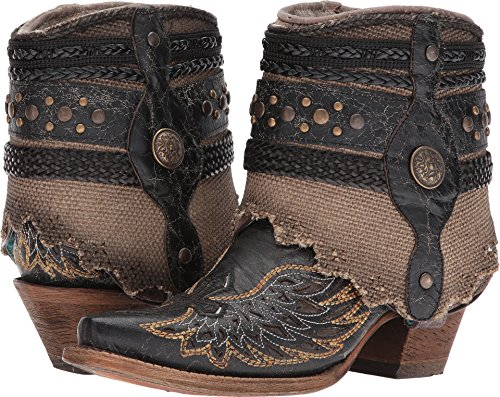 Corral Boots Women's A3461 Black/Bone 7.5 B US