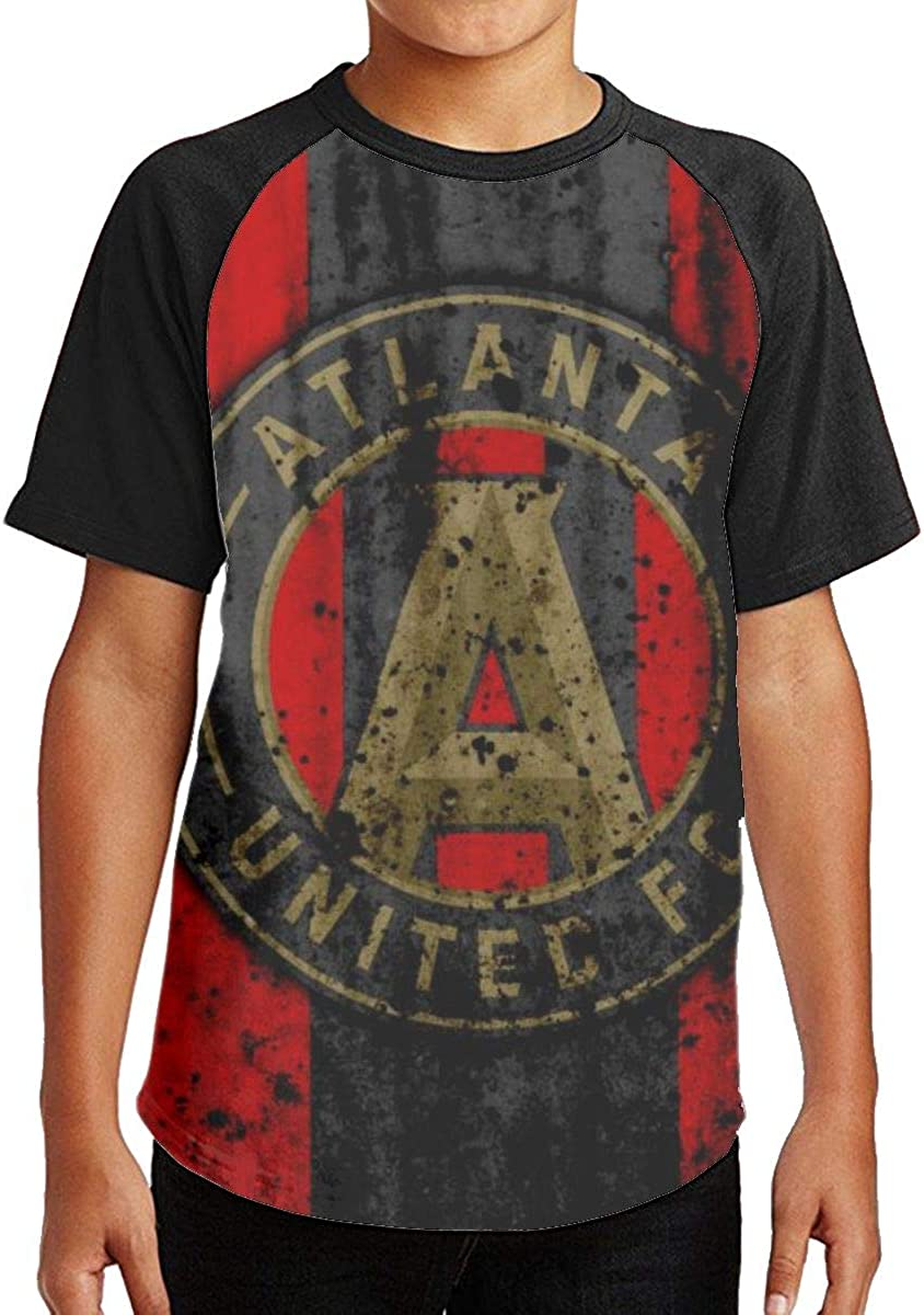 Atlanta United Racer Boys Uniform Short Sleeve Fashion Crewneck Classic T-Shirt