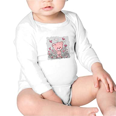 e72ec4322 Amazon.com  Hibaby Cute Bear Newborn Onesies Long Sleeve Newborn ...