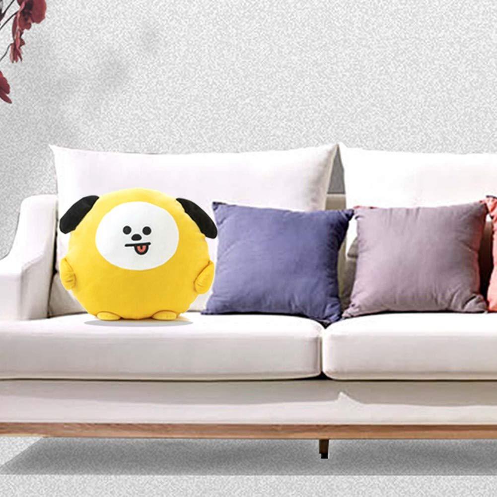 32cm A.R.M.Y Hot Gift CHIMMY Yuxareen Kpop BTS Small Ear Plush Pillow Cartoon Image Oval Pillow Soft Cute Doll Travel Pillow Cushion 30