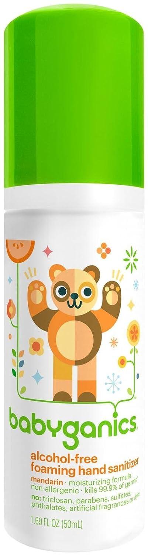 Babyganics The Germinator Alcohol Free Foaming Hand Sanitizer Tangerine -- 1.69 fl oz BG-HS-01062