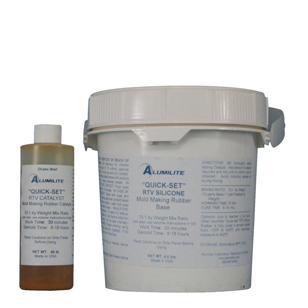 Alumilite Quick Set RTV Silicone Mold Making Rubber 5 lb by Alumilite (Image #1)