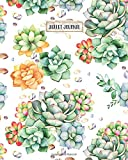 img - for Bullet Journal: Succulent Gold Marble Design, 160 Dot Grid Pages, 8 x 10 Blank Bullet Journal Notebook with 1/4 inch Dotted Paper, Perfect Bound Softcover book / textbook / text book