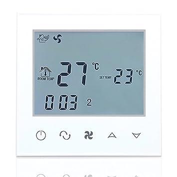 Beok TDS21-AC4 Temporizador Diario Programación Fan Coil Termostato AC Smart Central Aire Acondicionado FCU