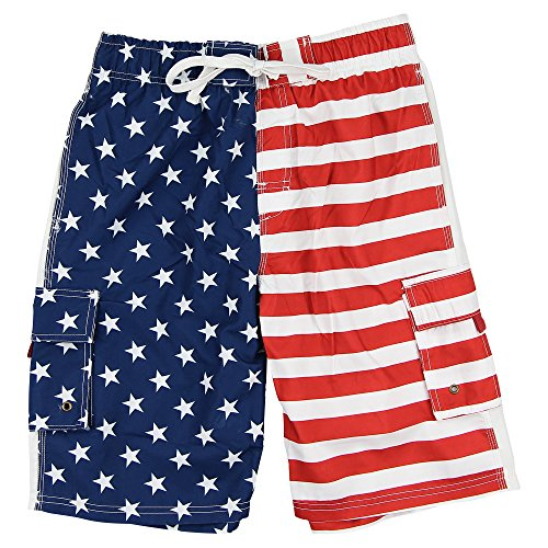 Mens American Flag Trunk Shorts