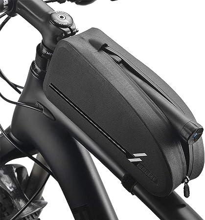 auvstar Bolsa Bicicleta Manillar, Impermeable Bolsa Bicicleta Tubo Frontal,Bolsa para Cuadro de Bicicleta,para Bicicletas MTB Bici de Carretera Bici ...