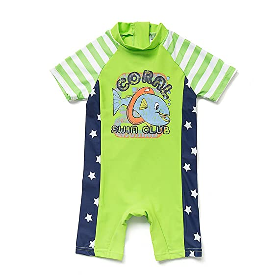 Sun Protection Baby Swimsuit upandfast Baby//Toddler One Piece Zip Sunsuit with Sun Hat UPF 50