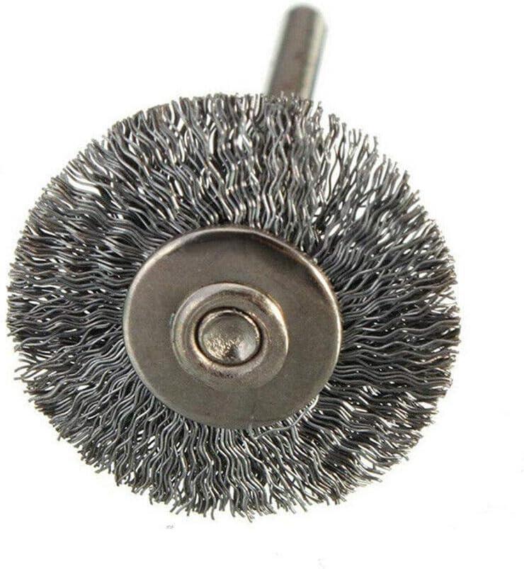 Juego de 10 cepillos de rueda de alambre de acero pulido para herramientas rotativas