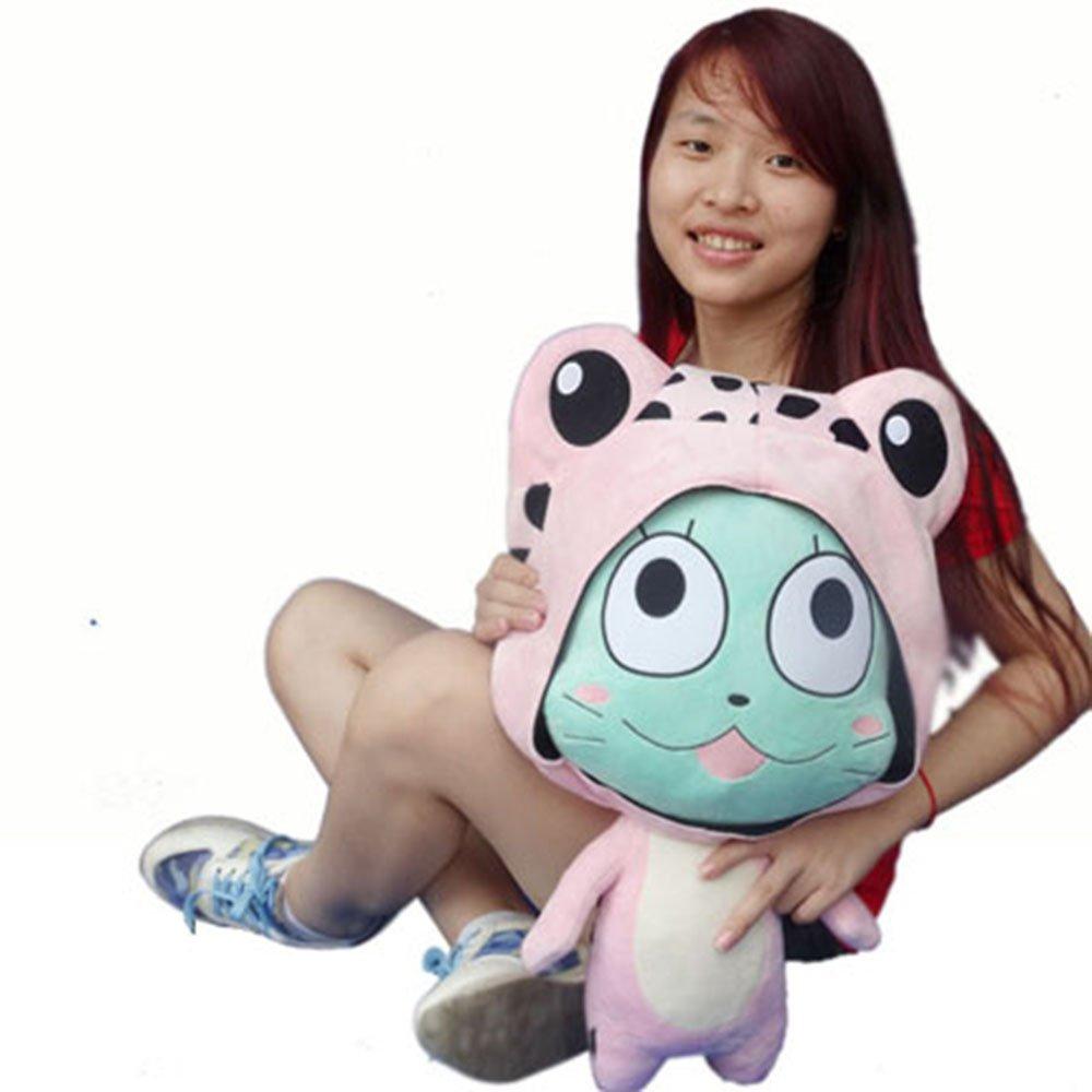 Rain's Pan Anime Fairy Tail Frosch Cosplay Plush Pillow Cushion Toy Dolls Pink 23'' by Rain's Pan Plush Toy Pillows (Image #6)