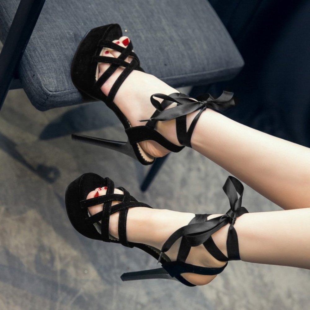 ALBOC Schuhe damen Stiletto Knöchelriemen Sandalen Roman Schuhe ALBOC Damen Peeptoe Strappy Party Schuhe 03770b