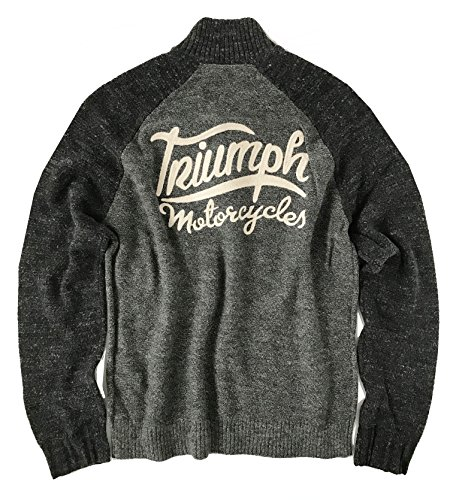 Lucky Brand Men's Triumph Motorcycle 1/4 Zip Pullover Sweater ()