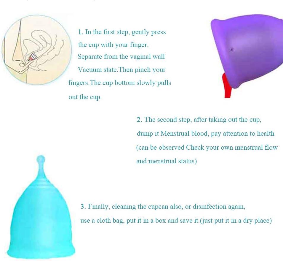 Copa Menstrual Set Talla MYL,Grado Médico Silicona Hipoalergénica,Esterilizador Reutilizable Plegable Copas Menstruales Ecologicas,Rosado