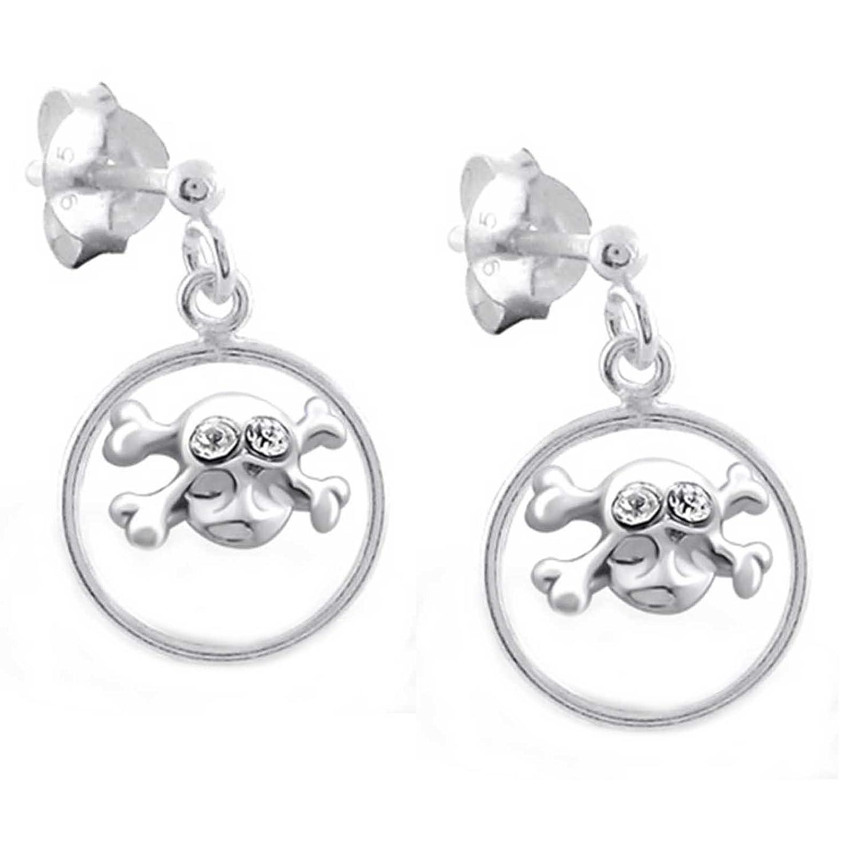c2eb3215695b Envio gratis SL de Silver Pendientes Calavera con Ojos de cristal 925 plata  en caja de