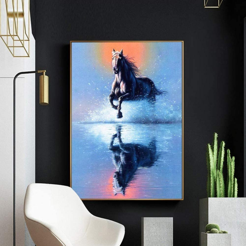 Pintura Diamante 5D Cuadrado Completo Animal Caballo Imagen de Bordado Rhinestone Mosaico Decoración Del Hogar Nave de la gota,40x50cm
