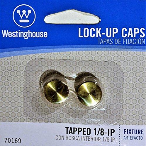 Westinghouse Lamp Lock-Up Caps, Brass