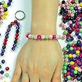 Baker Ross Cuentas de plástico de diamantes brillantes en colores diferentes que los niños pueden usar para sus actividades de manualidades tamaño 7 mm - Pack de 250.
