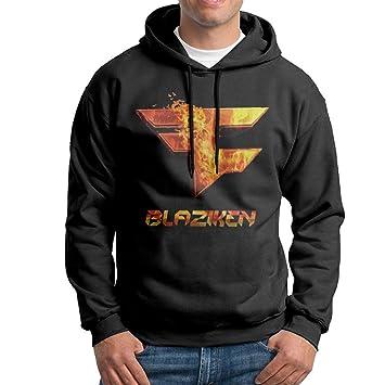 Faze Blaziken Logo Hombres 100% algodón sudadera con capucha Sudaderas, M, Negro