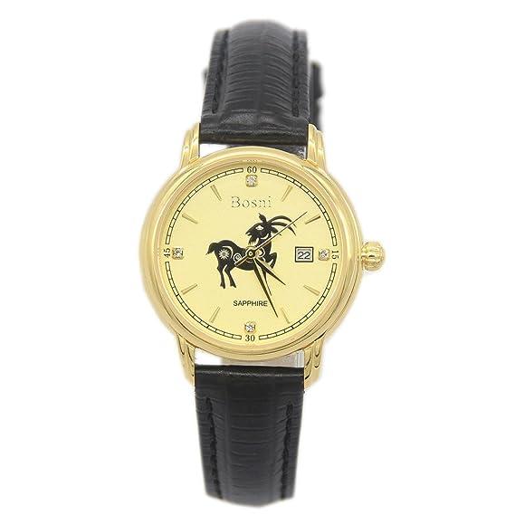Groupstars - símbolo chino oveja de ratón oro Casual de piel Para Muñeca relojes: Amazon.es: Relojes